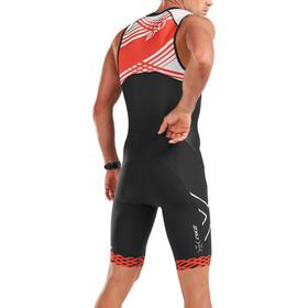 2XU Compression Full-Zip Trisuit Men, black/white flame lines